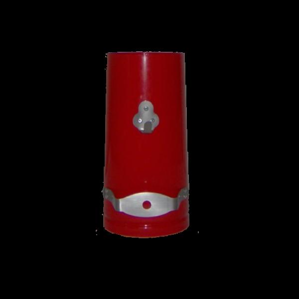 red narrowboat chimney